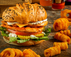 Grilled Chicken Burger Meal